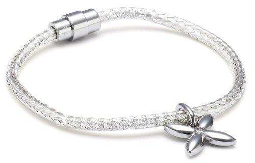 ,Silber--- Multicolor Edelstein Armband,4 mm,19 cm KM-96