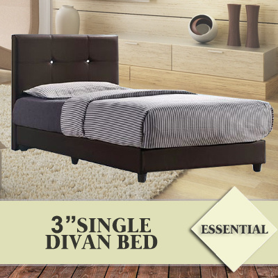 Qoo10 essential 3 inch single divan bed furniture deco for Divan only no mattress