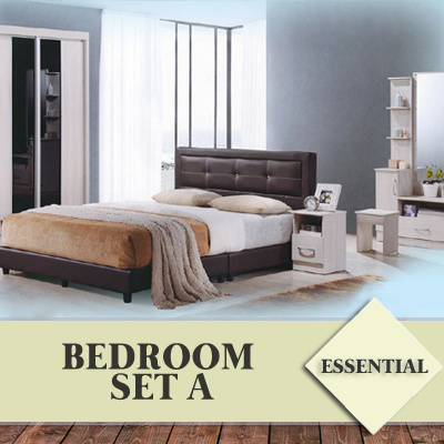 Qoo10 essential bedroom set in 4 styles furniture deco for Bedroom furniture essentials