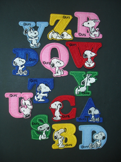 fabric alphabet letters iron on patch a z motif applique decal for children clothing approx