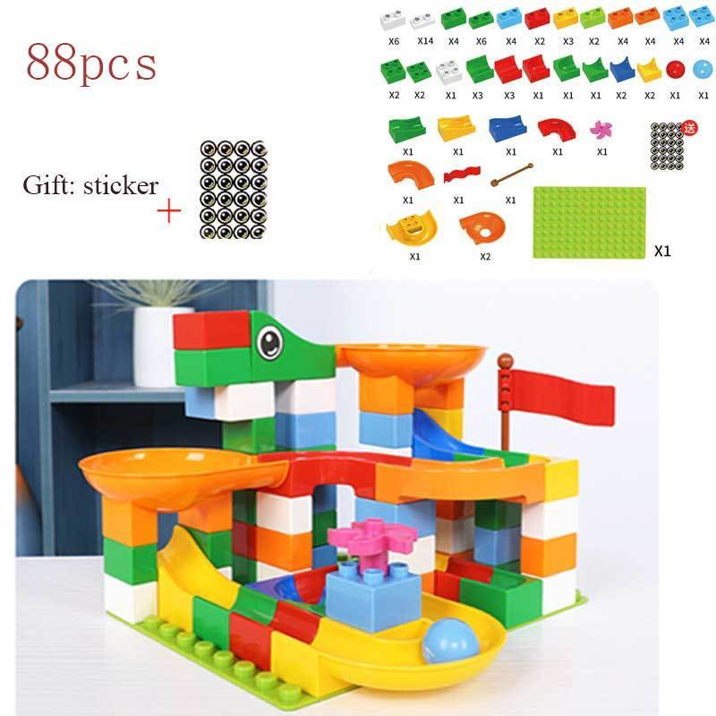 135 Pieces Kids Toddler Educational Toy Classic Big Size Bricks Building Blocks Easter Gift Toys Compatible Block Construction Toys 20 Fun Shapes with Reusable Storage Bucket Large Building Blocks