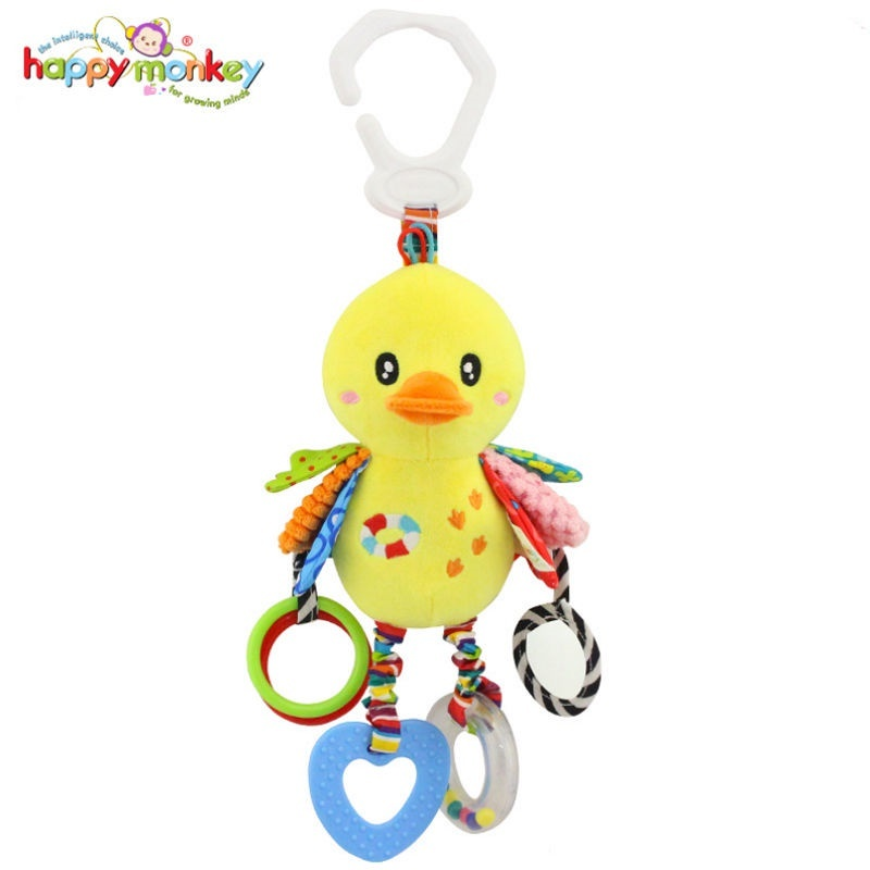 12pcs//Lots Cute Plastic Yellow Duck Car//Bag Hanging Decor Keyring Pendant