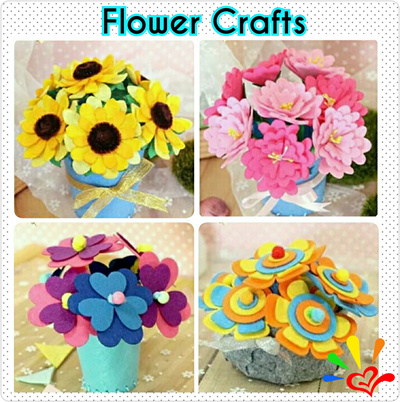 Qoo10 felt flower craft kits art and craft for kids for Felt arts and crafts