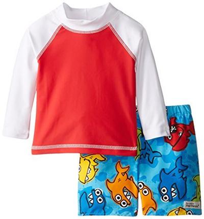 Qoo10 Flap Happy Baby Boys Rash Guard Swim Top With