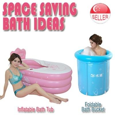 qoo10 foldable bath bucket inflatable bathtub health singapore baby swimming furniture deco. Black Bedroom Furniture Sets. Home Design Ideas
