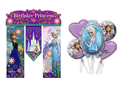 Qoo10 Frozen Happy Birthday Theme Anna Elsa Door Wall Banner