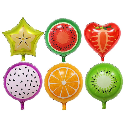 Qoo10 Fruits Foil Balloons Helium Ballons Birthday Decoration