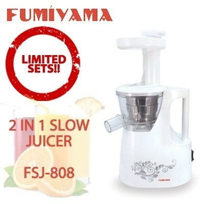 Slow Juicer Pulp : Qoo10 - FSJ 808 Fumiyama 2 in 1 Slow Juicer with Juice Pulp Containers [Dua... : Home Electronics