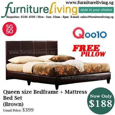 Qoo10 Furniture Living Sg New Queen Size Bedframe Mattress Package Set I Furniture Deco