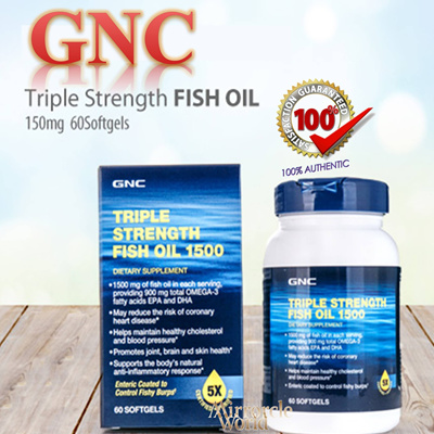 Qoo10 gnc triple strength fish oil and omega complex for Does fish oil help skin