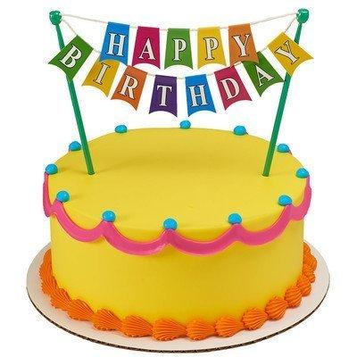 Cake Art Baner : Qoo10 - Happy Birthday Banner Cake Topper Decoration ...