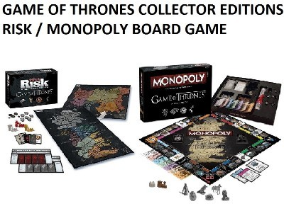 Qoo10 - Game of Thrones RISK / MONOPOLY Board Game. Collectors Edition! : Toys