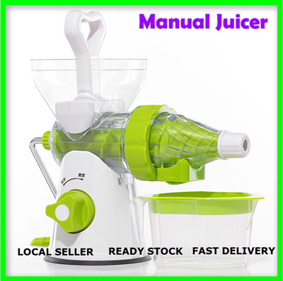 Slow Juicer Manual Murah : Qoo10 - LOCAL SELLER / Portable Manual Fruit Juicer Slow Fruit Juicer Blender ... : Home Electronics
