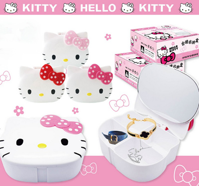 Qoo10 hello kitty table mirror containing jewelry for Table exterieur hello kitty