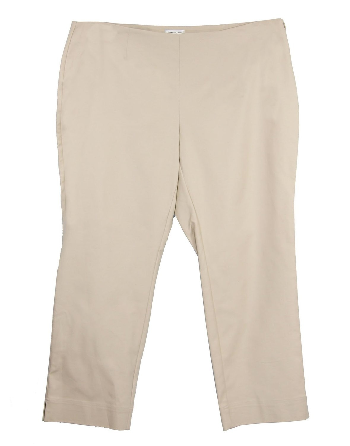 New Eileen Fisher Stripe Tapered Hemp Blend Ankle Pants Size PL MSRP $168