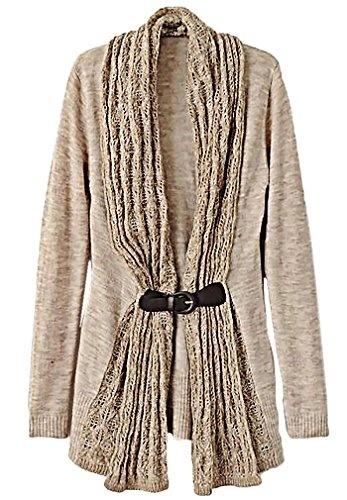 White Black Stripe Draped Shawl Collar Knit Blazer Cardigan 212 mv Jacket S M L