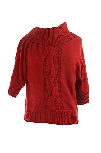 TORRID Sweater 0X 3X Red Off Shoulder Tunic Plus Size Fold Over Collar Top NEW