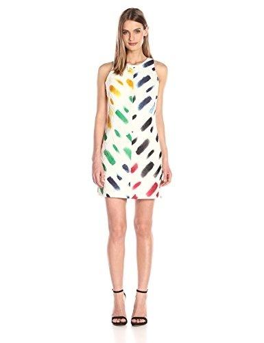 SML MIDRIFF Solid Sleeveless Round Neck Cutout Open BOW back Jersey Skater Dress