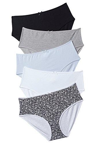 Boyshort Cotton Women/'s 5-Pk Asstd Panties Underwear  Red Hearts Polka Sz 5 SM