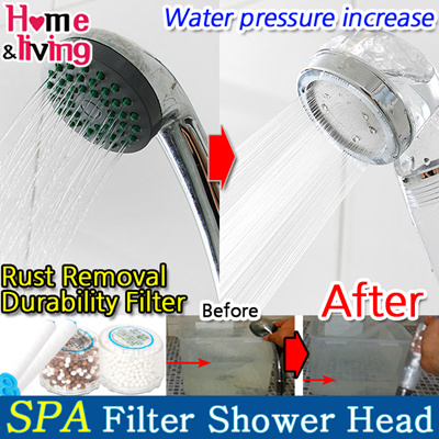 qoo10 home spa anion filter shower head water pressure rise rust remo. Black Bedroom Furniture Sets. Home Design Ideas