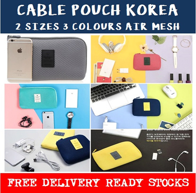 Qoo10 Cable Pouch Organizer Iphone Samsung Case