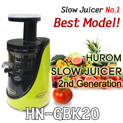 Hurom Slow Juicer Best Model : Qoo10 - [ New HUROM ] HUROM BEST MODEL! 2nd Generation Slow Juicer HN-GBK20 / ... : Home Electronics