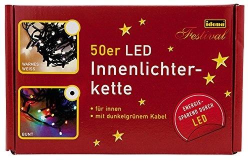 Solar Lichterkette 100 LED warmweiß 2900 K