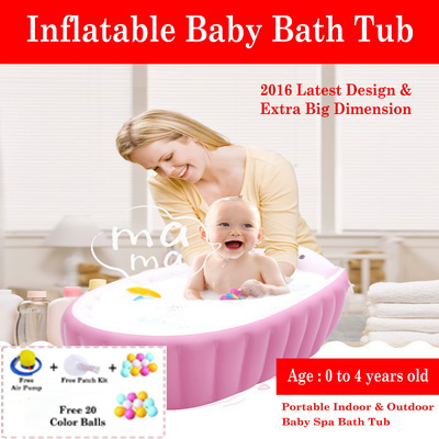 qoo10 inflatable baby bathtub spa bath tub portable infant toddler kids f baby maternity. Black Bedroom Furniture Sets. Home Design Ideas