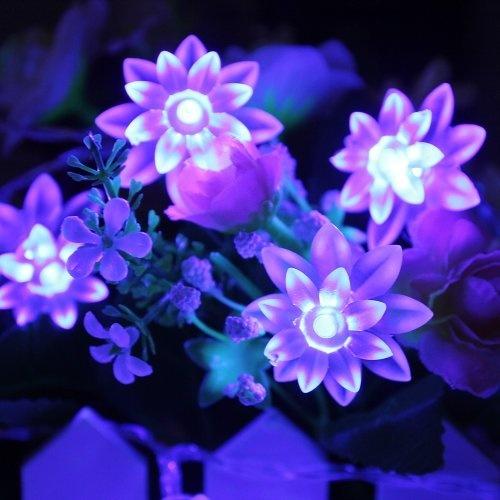 1x 20 LED Solar Lichterkette Solarleuchte Blau für Garten Dekoration D P7R GJ 2X