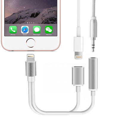 qoo10 iphone 7 2 in 1 lightning adapter female aux. Black Bedroom Furniture Sets. Home Design Ideas