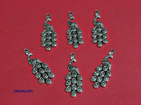 6pc Cute Christmas Bell//Santa//Tree Print Charm Beads Handmade Red Braided Cord