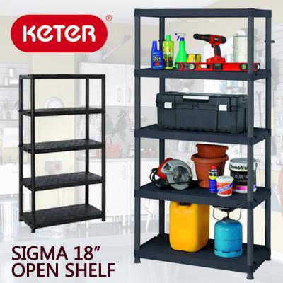qoo10 keter sigma 18inch open shelf 91wx46dx184h cm furniture deco. Black Bedroom Furniture Sets. Home Design Ideas