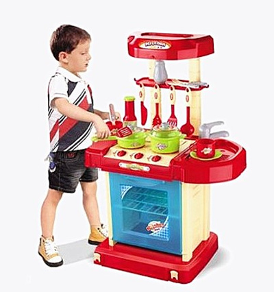 Qoo10 kitchen play set boys and girls cooking toys for Qoo10 kitchen set
