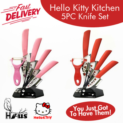 Qoo10 kitty 5 piece knife set kitchen dining for Qoo10 kitchen set