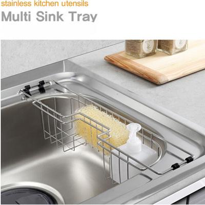 qoo10 korea premium stainless steel multi sink rack sponge holder drainer ra kitchen dining. Black Bedroom Furniture Sets. Home Design Ideas