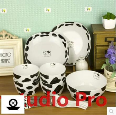 Wedding Gifts For Couples In Singapore : Qoo10Korean couple cute cows home dishes suit wedding gift creative ...