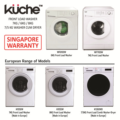 Qoo10 kuche front load washer 6kg 7kg 8kg washer cum for Front kuche