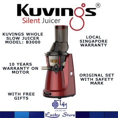 Kuvings Slow Juicer B3000 : Qoo10 - KUvINGS SLOW JUICER * B3000 (RED / SILvER) MADE IN KOREA 10 YEARS WARR... : Home Electronics