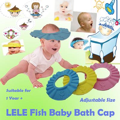 qoo10 leleyu lele fish kids baby shower caps toys