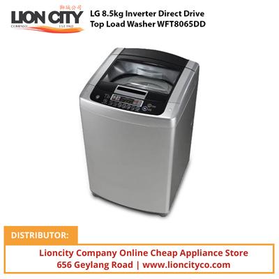 qoo10 lg inverter direct drive top load washer wft8065dd home electronics. Black Bedroom Furniture Sets. Home Design Ideas