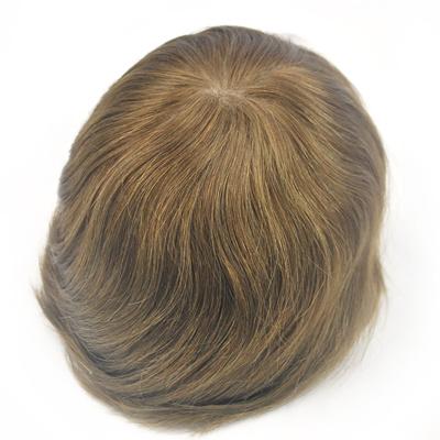 qoo10 light brown hair piece handmade human hair toupee