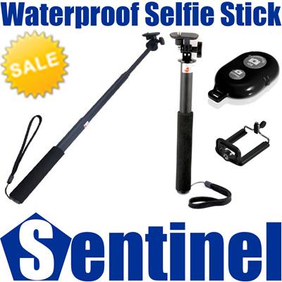 qoo10 lightweight waterproof selfie stick monopod bluetooth remote shutter. Black Bedroom Furniture Sets. Home Design Ideas