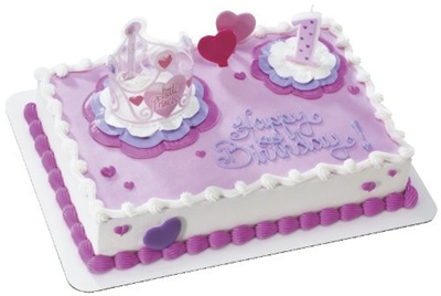 Qoo10 Little Princess 1st Birthday DecoSet Cake Decoration