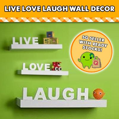 Qoo10 Live Love Laugh Wall Decor Set Of 3 White
