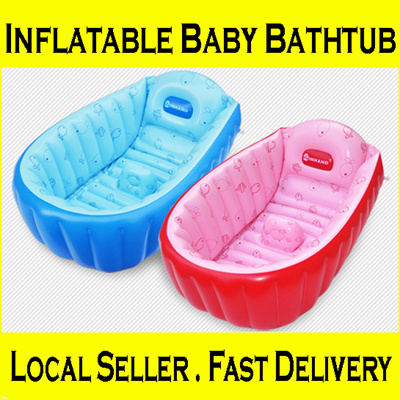 qoo10 local seller inflatable baby bathtub portable. Black Bedroom Furniture Sets. Home Design Ideas