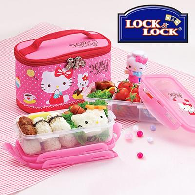 Qoo10 Lock N Lock Hello Kitty Donut Bag Lunch Box Set