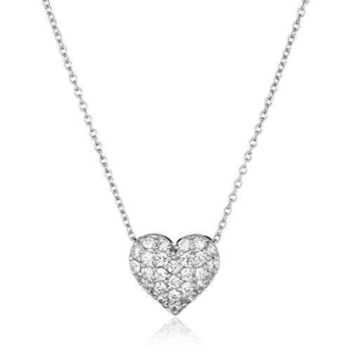 18-Inch Rhodium Plated Necklace with 4mm Zircon Birthstone Beads and Sterling Silver Blessed Trinity Charm.