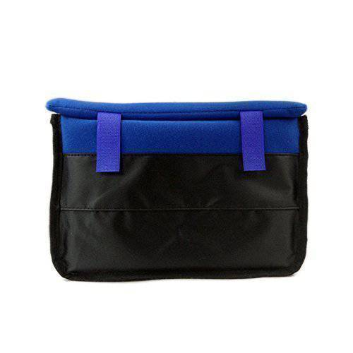 Real Soft Leather Had Made Blue Triple Quadruple Magnetic Pen Case//Pouch