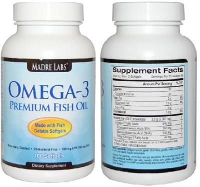 Qoo10 madre labs omega 3 premium fish oil 100 fish for Halal fish oil
