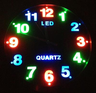 Qoo10 - [MEGA SALE] LED Wall Clock with Luminous Dial Analog Digits/Wall Cloc... : Furniture & Deco